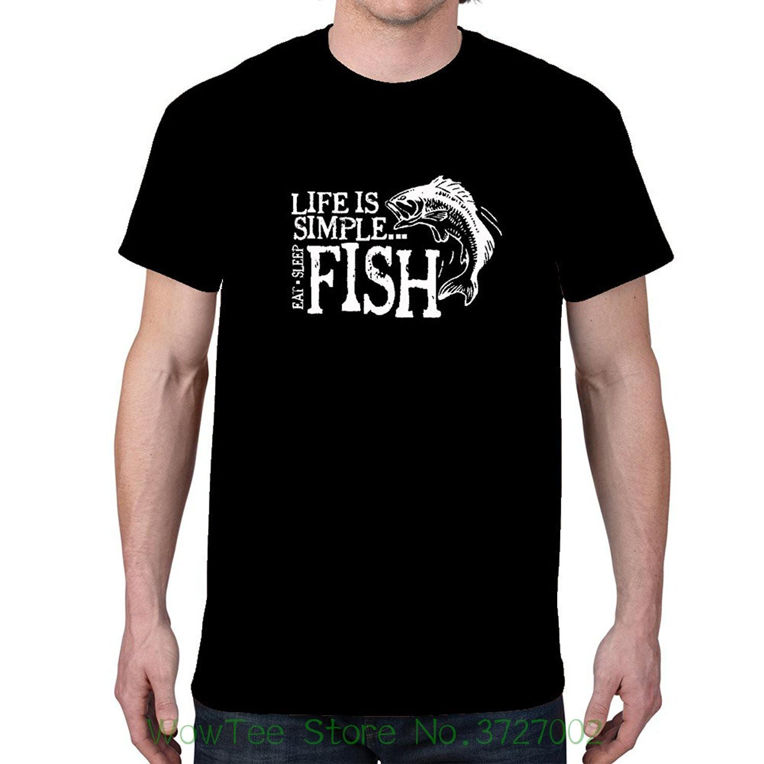 1b39b13bde4 Men S Life Is Simple Fish. Fisher T Shirt 100% Cotton Short Sleeve O Neck Tops  Tee Shirts Mens Formal Shirts Buy T Shirts Online From Wowteestore