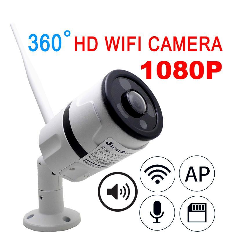 JIENU Wireless IP Camera Wifi 1080P Panoramic FishEye Home Security CCTV  Camera 360 Degree Night Vision Support Audio Home Ipcam