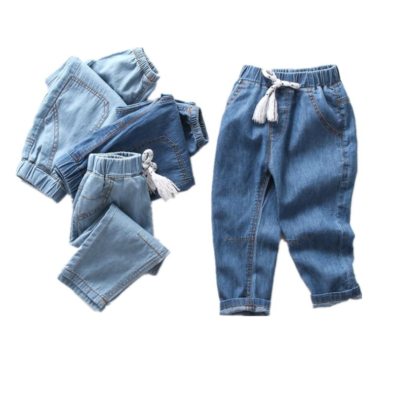 afdf2f4f8274 Summer Baby Boys Girls Harem Pants 2018 Kids Children Denim Trousers Solid  Cowboy Clothes Kids Casual Pants Joggers For 2 9T Red Boy Pants Boys Bottoms  From ...