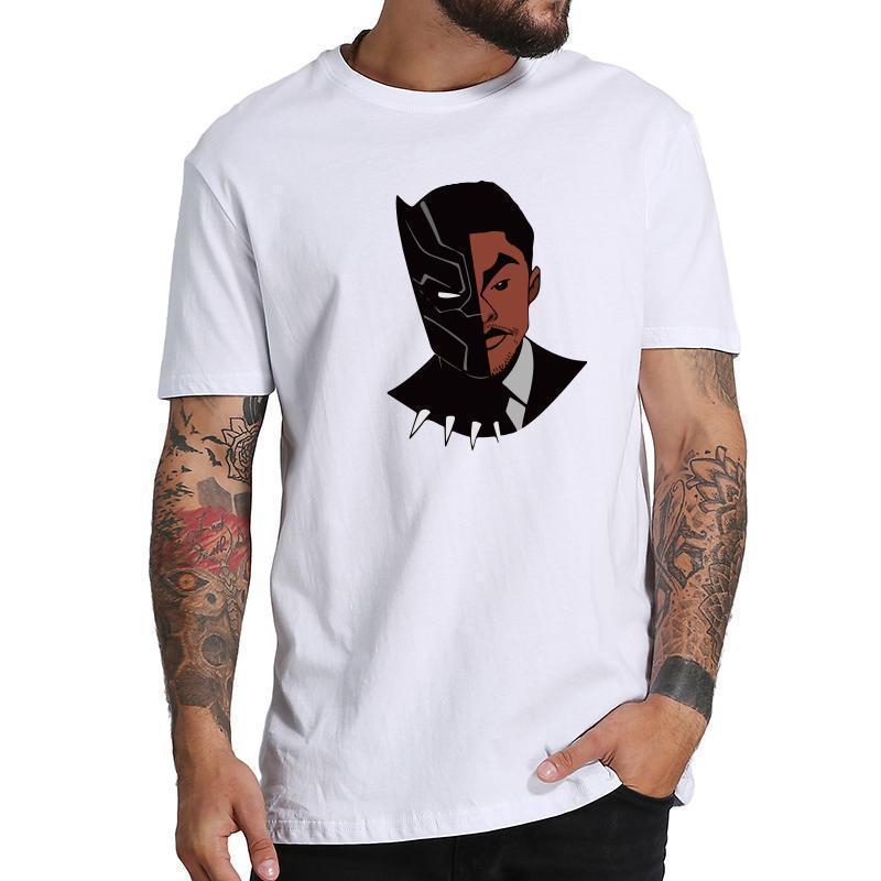 1cc0799a8 Compre Wakanda Anime Camiseta Homens Filme Preto Impresso Manga Curta Tee  Dos Desenhos Animados Legal Grap T Shirt Dos Homens De Moda Camisas De  Algodão ...