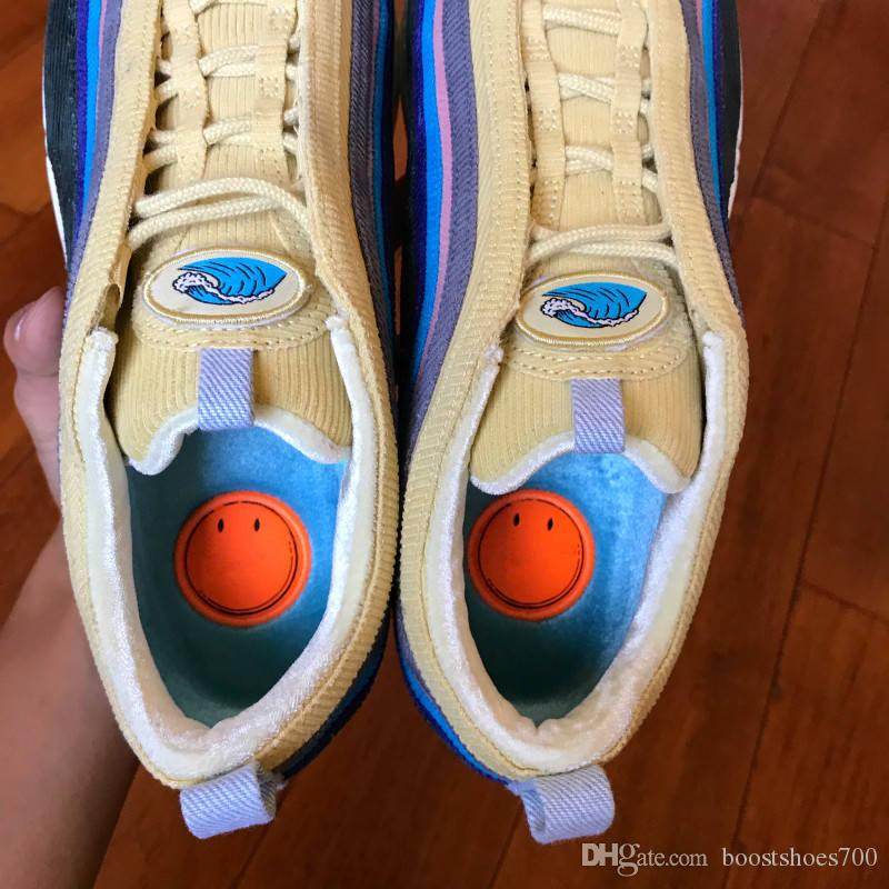 2020 Nova Sean Wotherspoon Homens Running Shoes Top Mulheres Enxofre Vivid Multi Blue Amarelo híbrido Sports Sneakers 36-45