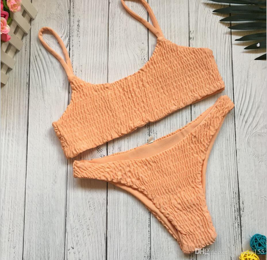 Triangle Bikini _2017 Europäischer und amerikanischer heißer Stil Badeanzug sexy gefaltete Triangel Bikini Bikini.