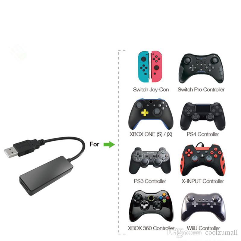Convertisseur USB Convertisseur Bluetooth Gamepad Convertisseur Apparence de la LED poids léger Fonction de commutateur Turbo pour la console Nintendo Switch
