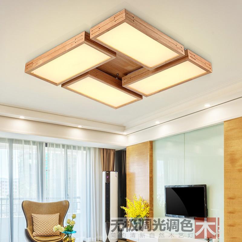 Led-licht Deckenleuchten Deckenleuchte Für Foyer Schlafzimmer Esszimmer Led-deckenleuchte Led Chinesische Holz Eisen Acryl Led Lampe