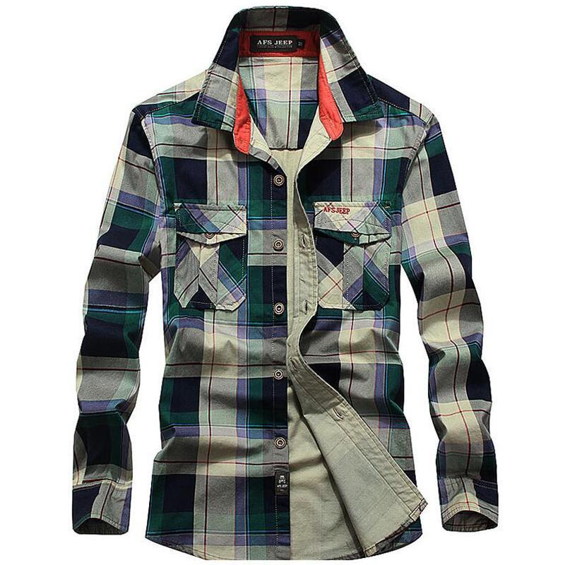 b89bb675d0 Compre Camisa Xadrez Homens Casuais 100% Algodão Camisas De Manga Longa  Mens Marca Clothing Tops Plus Size 4xl Camisa Masculina Camisas De Cutee,  ...
