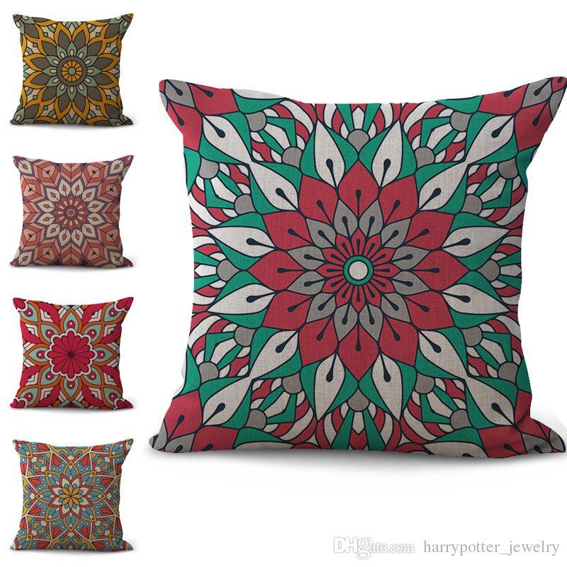 indian mandala pillowcase bohemian bed flower pillowcover cotton rh dhgate com
