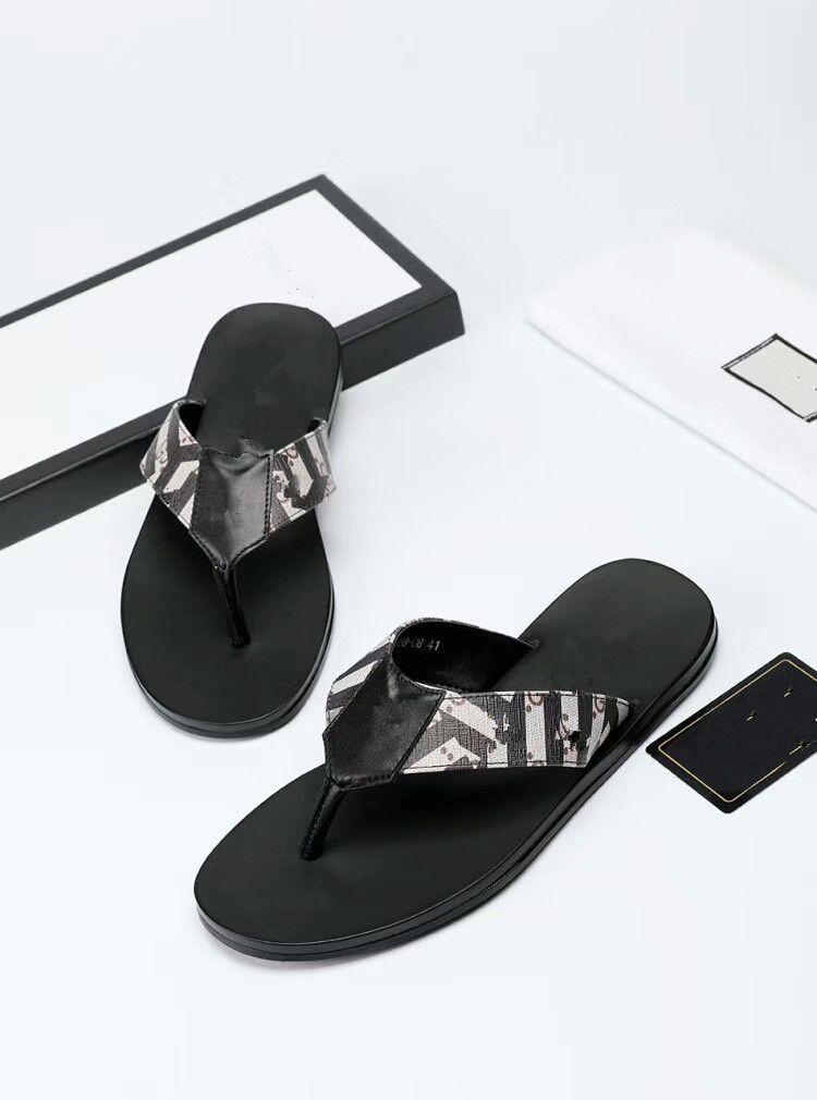98a43423ae048 2018 New Flower High Quality Men s Designer Slippers Clip Feet Flip ...