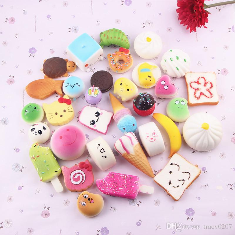 Creativity squishies toys Hamburger Ice Cream squishy cotton candy slow squishy rising with package squeeze toy kid gift scented Free Ship02