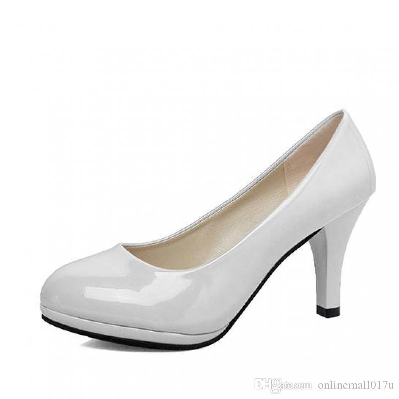 Summer Women Shoes Pointed Toe Pumps Dress High Heels Boat Wedding Tenis  Feminino Sexy Pumps Platform Wedges Shoes White Shoes From Onlinemall017u