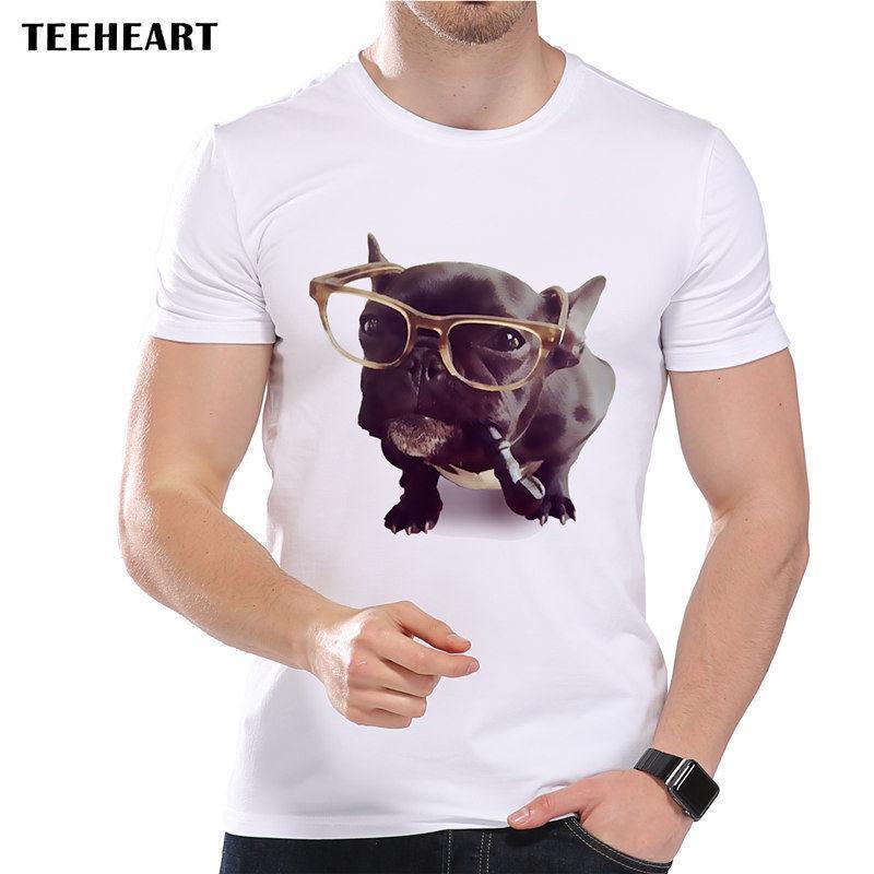 Großhandel Französische Bulldogge Mit Brille Und Smokirr Rohr Lustige Witz Männer  T Shirt T Shirt Retro Weinlese Klassisches T Shirt Von Qz1409088365, ... 328a107c12