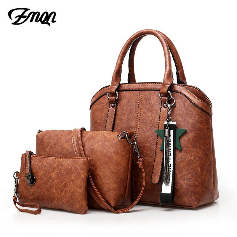 ZMQN Handbags Women Hand Bag 2018 Vintage Combination Crossbody Bag ... a08009d35564b