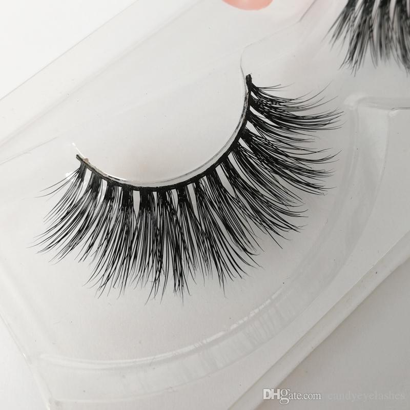 LOGOTIPO PRIVADO true Mink cabelo cílios sexy vison cílios Cruz longo cílios falsos Daily cílios olho personalizado pacote de caixa de cílios