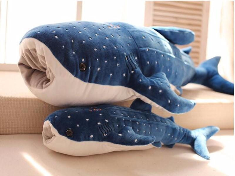 2019 50cm New Style Cute Blue Pink Shark Plush Toys Can Open Mouth