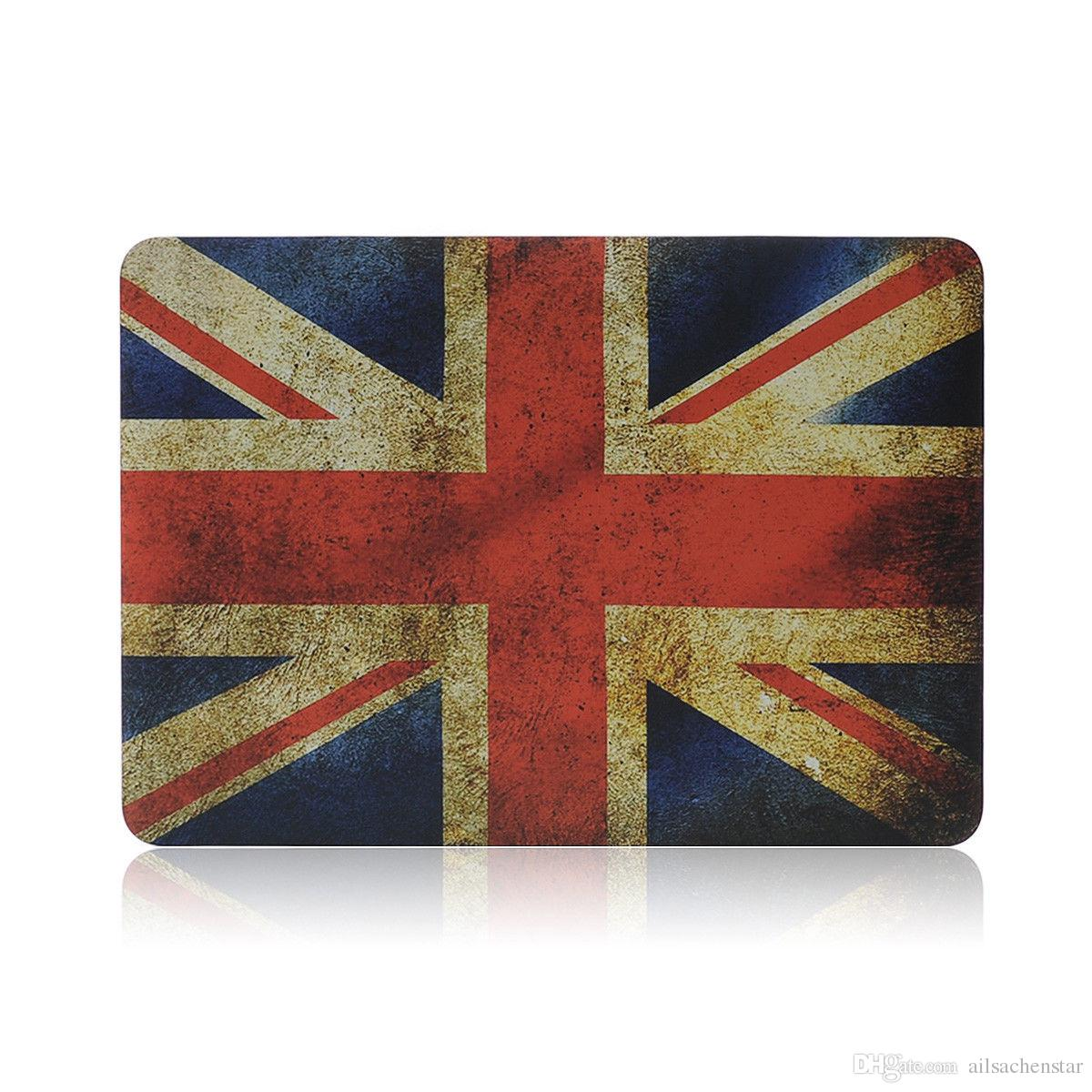 UK Flag Laptop Lid Rubberized Case Keyboard Cover For Macbook Retina 13.3 inch