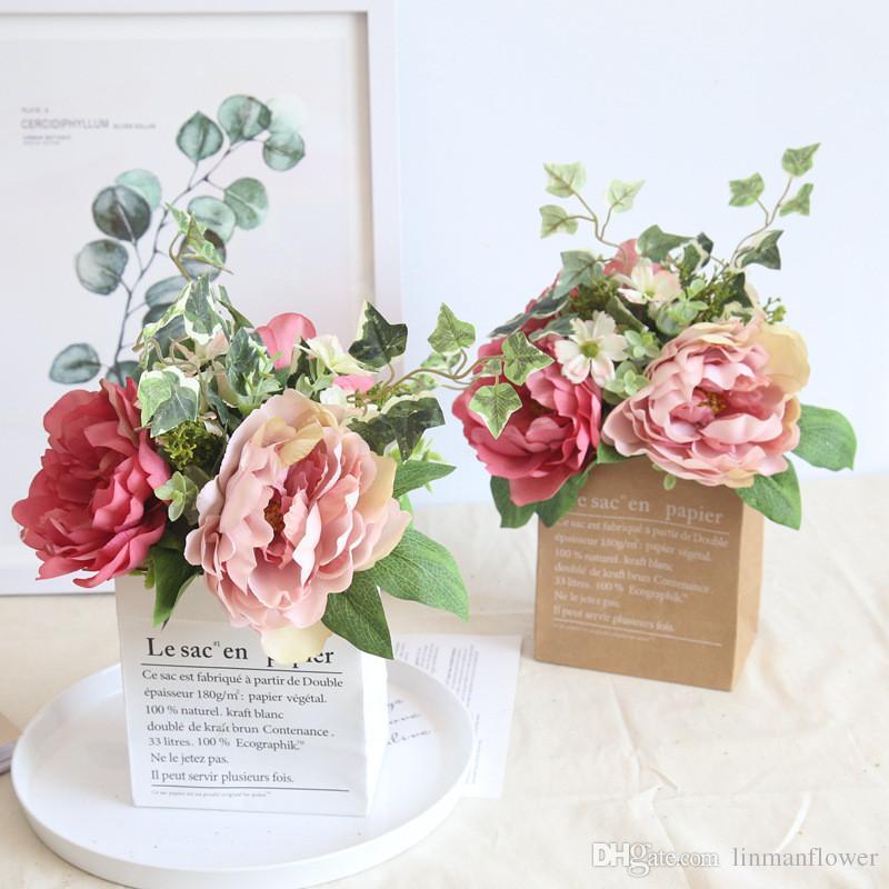2019 38cm simulation flower peony home decoration rustic wedding rh dhgate com