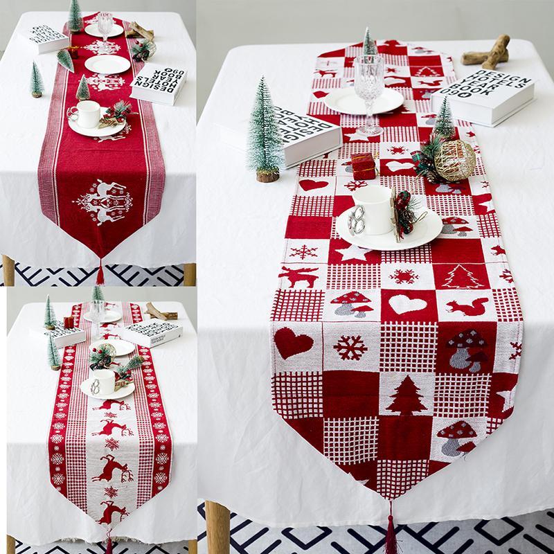 merry christmas printing table flag elk printed tablecloth red white rh dhgate com