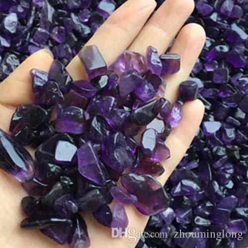 100g purple amethyst Crystal Quartz Gravel Decorate Aquarium fish tank Stone adorn detritus Healing Mineral massage Rough Rubble chips bid