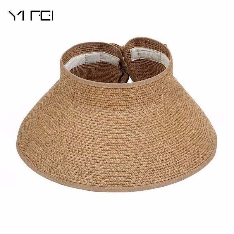 2018 Summer Outdoor Women s Foldable Wide Large Brim Beach Sun Hat ... 45b32f9ef142