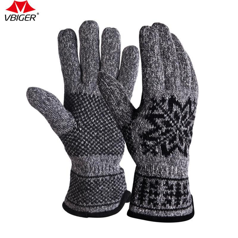 941dc7b08 2019 Vbiger Warm Knit Gloves Windproof Full Finger Mittens For Men Suitable  For Biking Hiking Motorcross And Climbing From Emmanue, $29.5   DHgate.Com