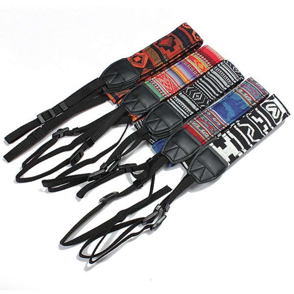 5 farben bunte kamera schulter umhängeband gürtel ethnischen stil kameragürtel für slr dslr nikon canon sony panasonic aa232