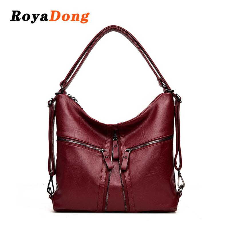 85a35ed874f RoyaDong 2018 New Big Women Bags Soft Leather Hobos Female Handbags Fashion  Shoulder Bags Ladies High Quality Design Bag Womens Handbags Handbags From  ...