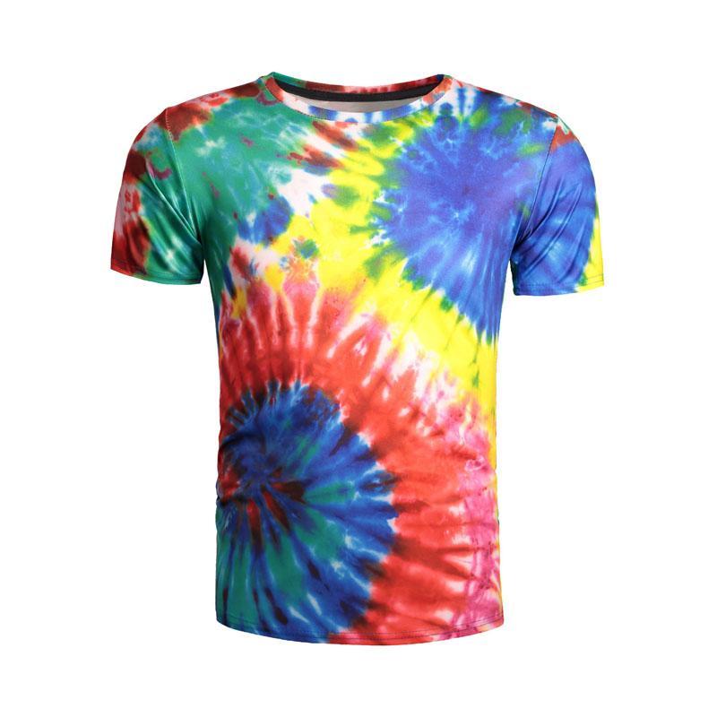 Großhandel Neue Mode Herren Frauen 3d T Shirts Strudel Gedruckt Regenbogen  Whirlpool Splash Druck T Shirt Tops Kühlen Sommer Tragen Von Ladyshop2017,  ... d785d55105