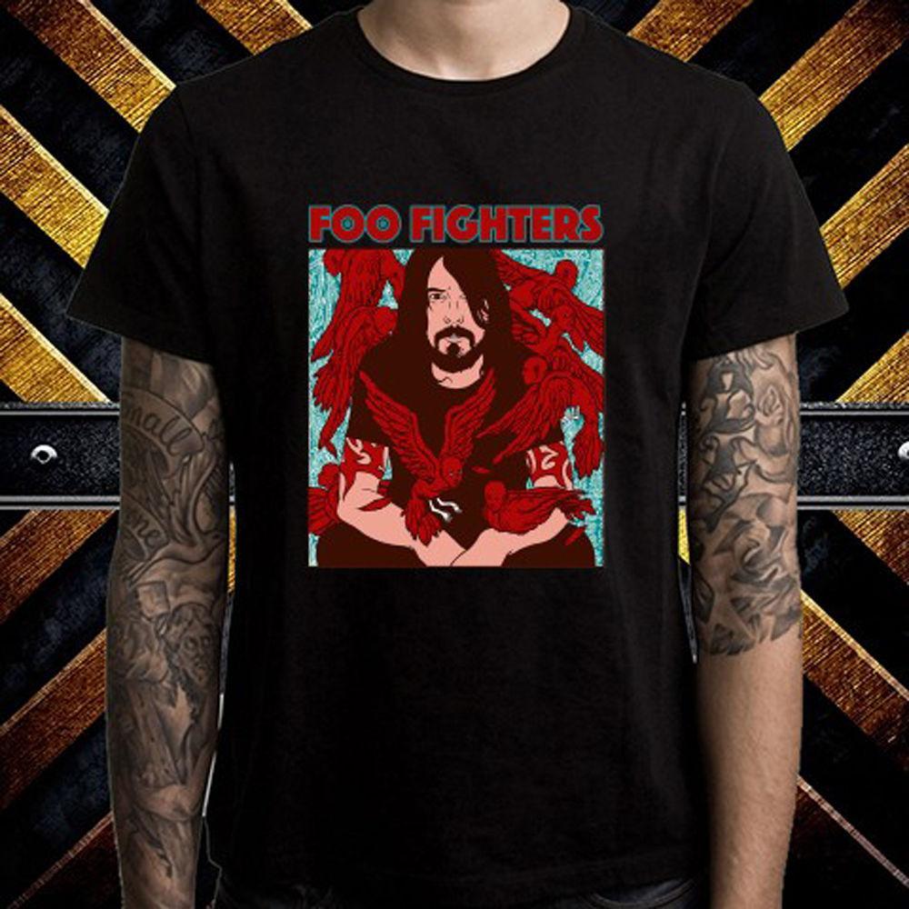 new arrivals f6c97 dd5a4 Dave Grohl Foo Fighters Icon Rockband Icon Herren Schwarz T-Shirt Größe S  bis 3XL