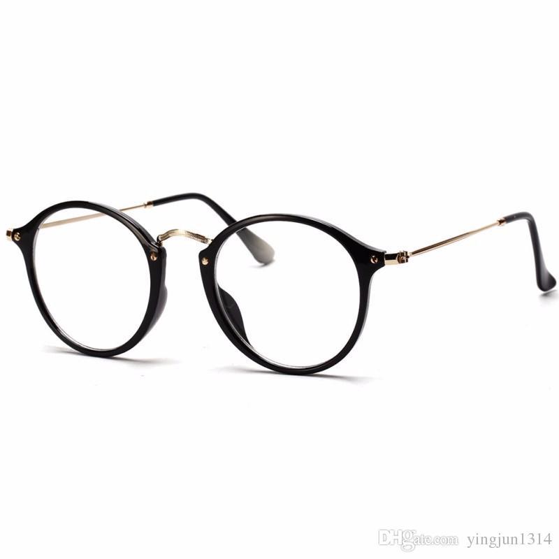 Großhandelsfrauen-Männer Weinlese-runde Eyewear-Rahmen-Retro- optische Glas-Rahmen-Brillen-Schutzbrille Oculos geben Verschiffen frei