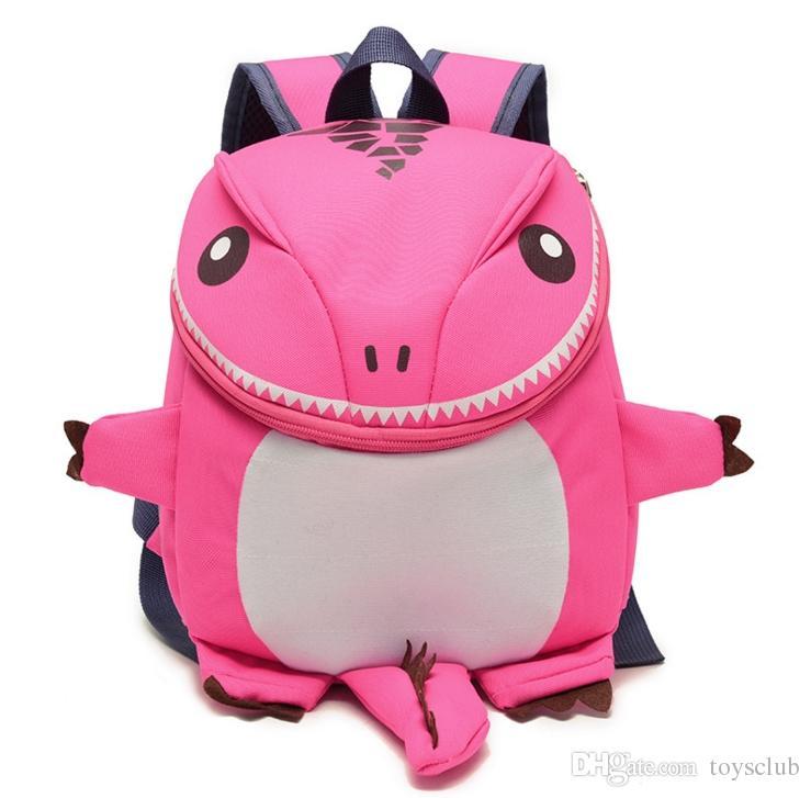 학교 가방 공룡 방수 만화 어린이 배낭 어린이 가방 공룡 학교 가방 소녀 소년 Ployester 동물 5 스타일