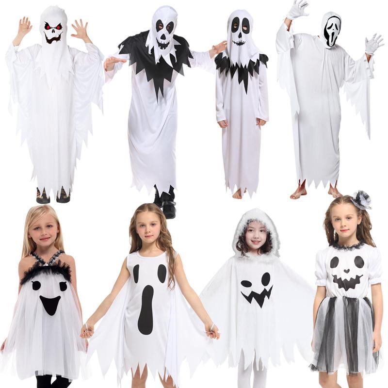 Großhandel Freies Verschiffen Halloween Kinder Kostüm Geist Set