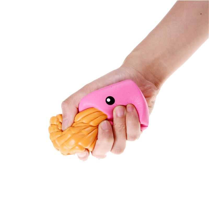 Besegad Cute Kawaii Soft jumbo Squishy Colorful Simulation Chips Toy Slow Rising for Children Adults Relieves Stress Anxiety