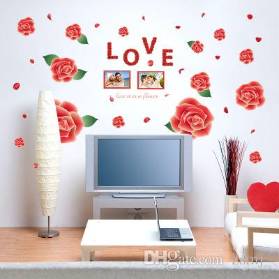 bulk rose pattern wall sticker wallpaper wall picture art vintage rh dhgate com