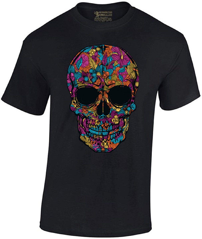 3e426cc3 Awkward Styles Men's Black Flower Sugar Skull T Shirt Day Of The Shirt 2018  Summer Men's Brand Clothing O - Neck Top Tee