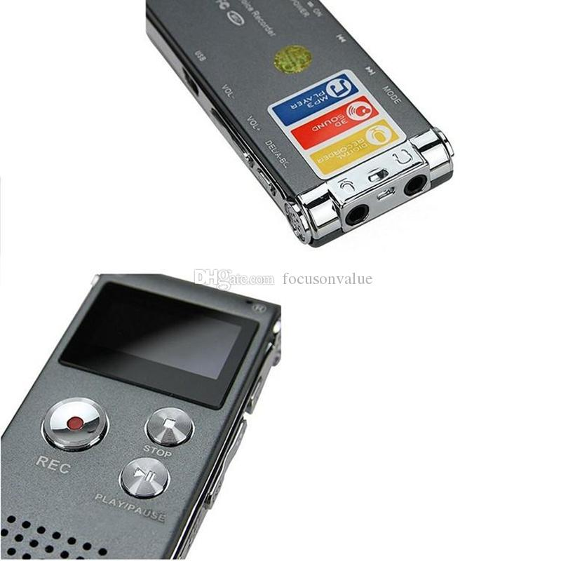 8GB Digital Voice Recorder with LCD Display portable mini Dictaphone Pen support telephone recording with MP3 player