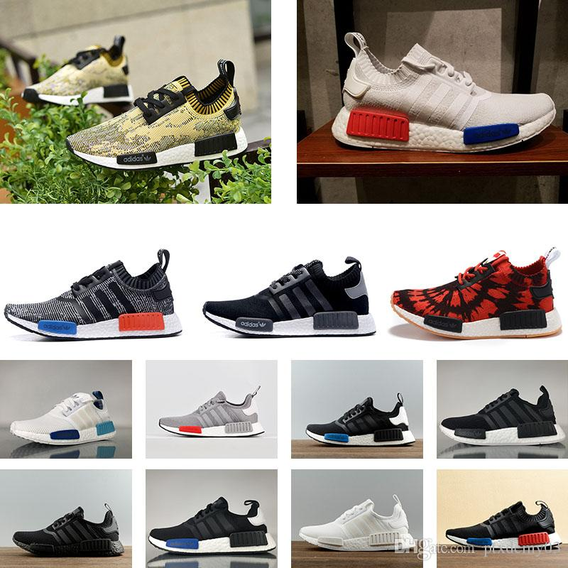 41428d7ab58 Compre 2018 Adidas NMD R1 W Truth Boost Designer Shoes Runner ND Mesh  Triple Blanco Negro Azul Rosa Verde Hombre Mujer Casual Zapatos Sneakers  Originals ...