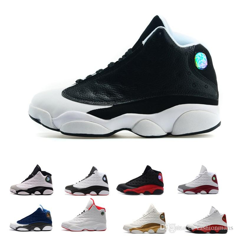 83fea288587 Top Quality Wholesale Cheap NEW 13 13s Mens Basketball Shoes Sneakers Women Sports  Trainers Running Shoes For Men Designer Man Size 5.5 13 Sneakers For Men ...