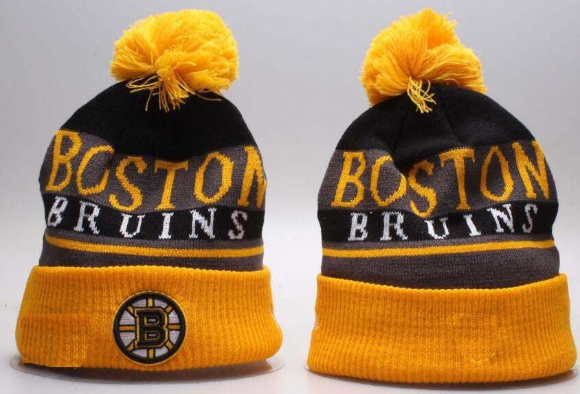 7c7fae45a91 BOSTON Unisex Autumn Winter Hat Men Women Sports Hats Custom Knitted ...