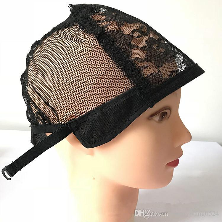 pack Wig Caps For Making Wigs Adjustable Straps Back Swiss Lace wig cap wig weave net hair extension