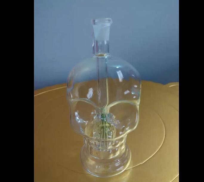 Alta calidad transparente cráneo hookah hueso, Venta al por mayor Bongs Oil Burner Pipes Water Pipes Glass Pipe Oil Rigs Smoking
