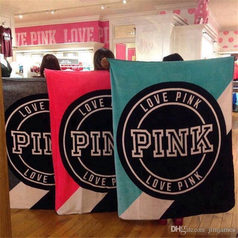 130150cm Pink Letter Blanket Soft Coral Velvet