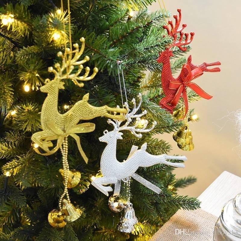 Dekoration Weihnachtsbaum.Weihnachten Rentier Bells Dekoration Weihnachtsbaum Dekor Elk Hängende Verzierung Weihnachten Bell Ornamente Neujahr Geschenke Shop Home Tür