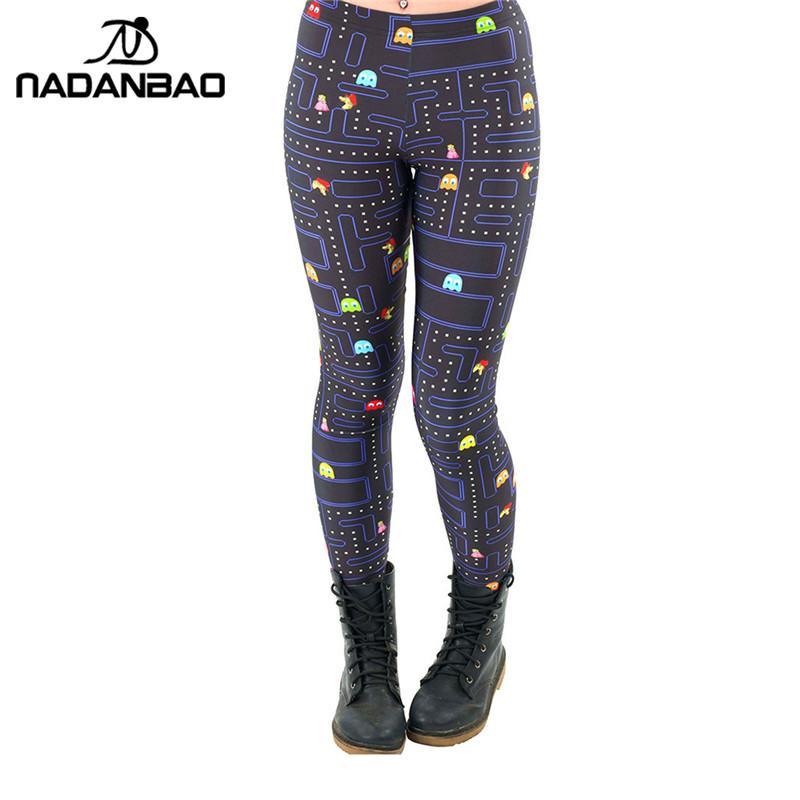 0156fc1ccd78f 2019 NADANBAO Black Milk New Maze Print Pacman Women Leggings Skinny Long  Leggins Women Pant From Cover3127, $36.56 | DHgate.Com