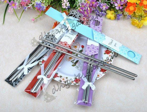 ¡¡¡nuevo!!! El envío libre 200 pares / lote de recuerdos de regalo de boda de acero inoxidable establece los favores, regalos de devolución del partido para invitados