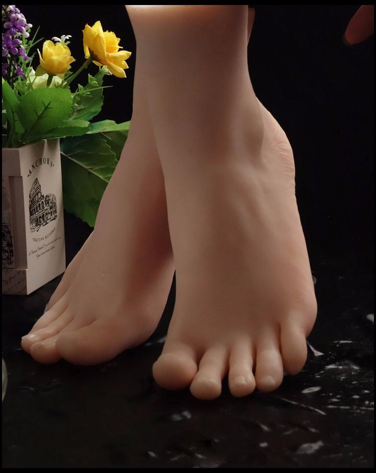 Realistic Silicone Lifesize Female Mannequin Foot Display For Shoes And Socks simulation foot mannequin