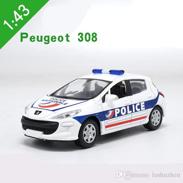 1 43 alloy car models high simulation peugeot 308 swat cop car toys rh dhgate com