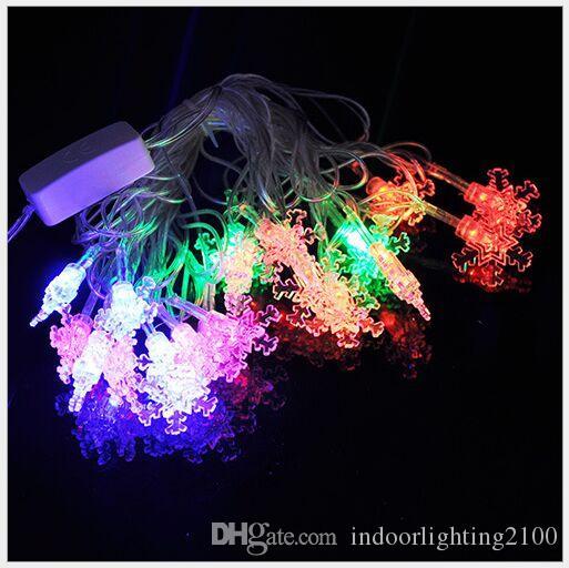 4M 20Lights AC110V / 220V Led Little Snowflake Lamp Strings Halloween Decoración de Navidad Festival Night Lights Strings led Iluminación de Flash