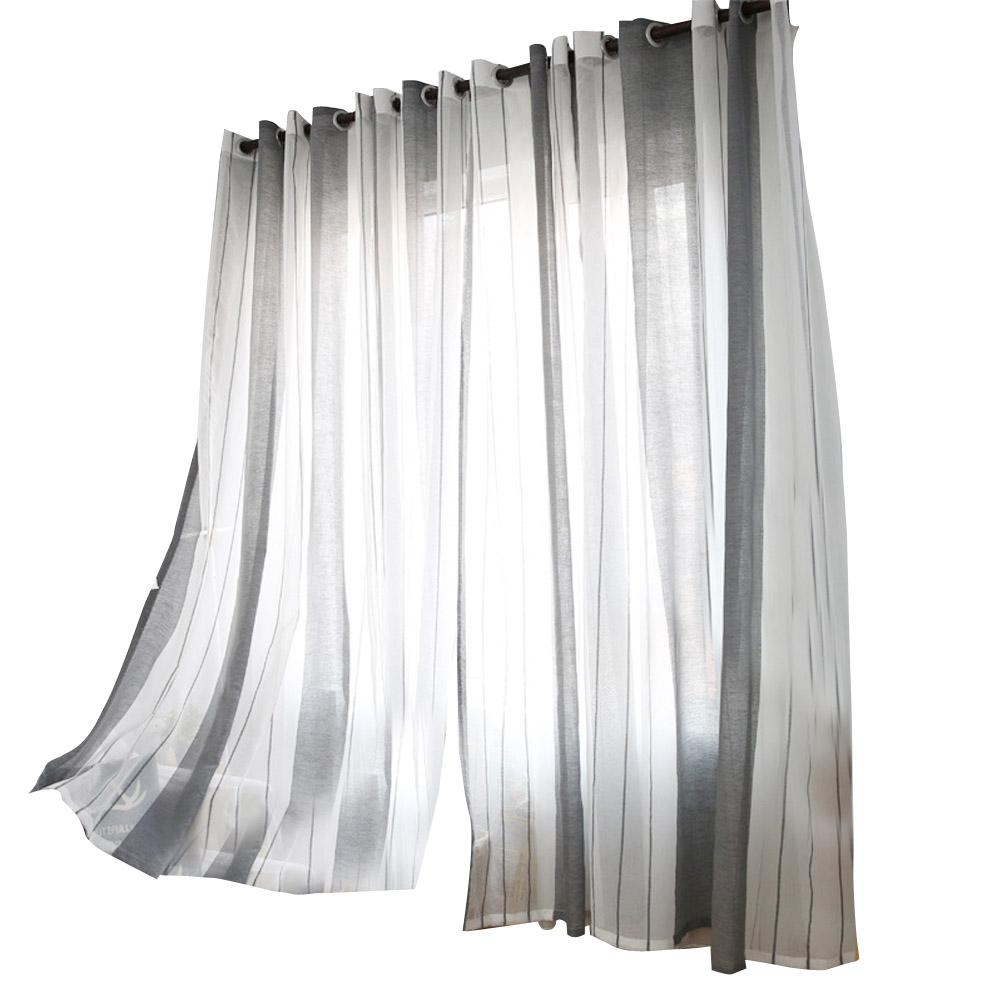 oulii linen window sheer vertical stripe window tulle with rod rh dhgate com