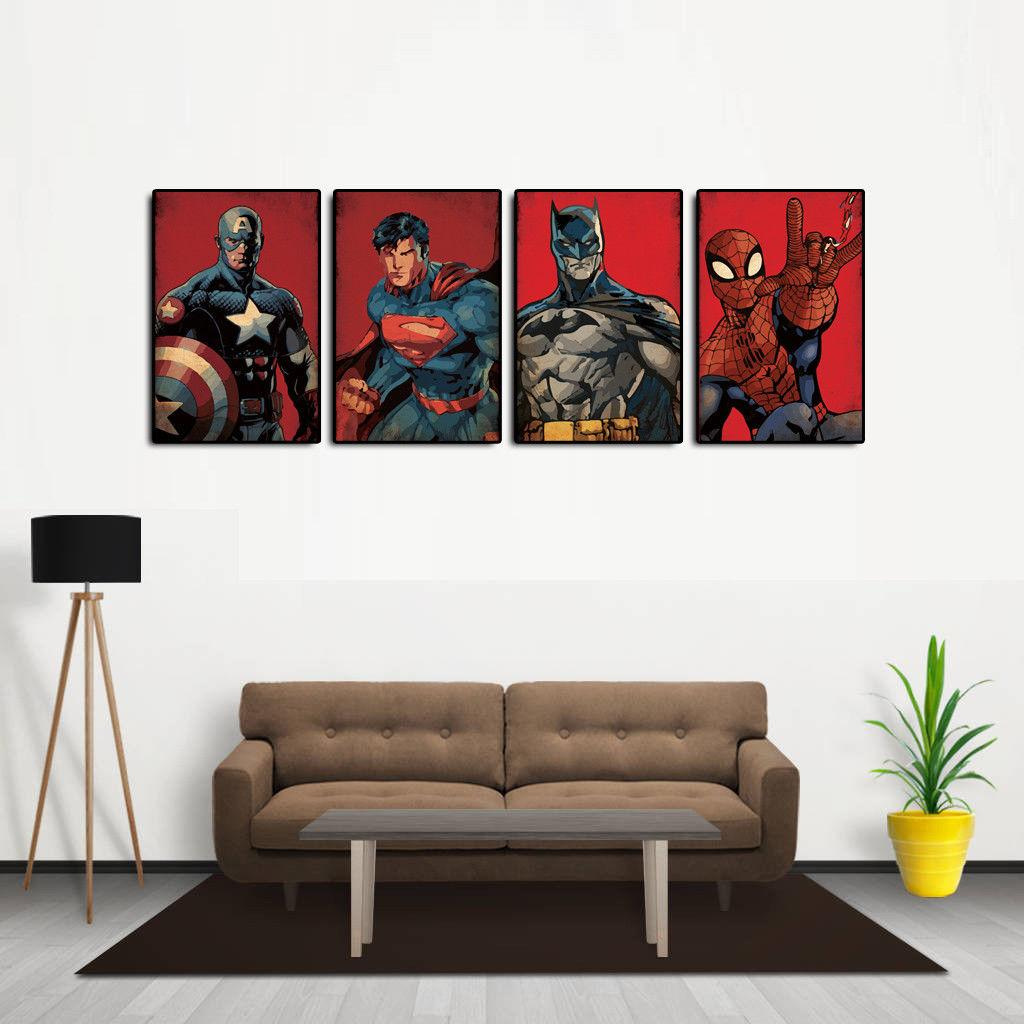 2019 Captain America Batman Superman Spider Man Modern Abstract
