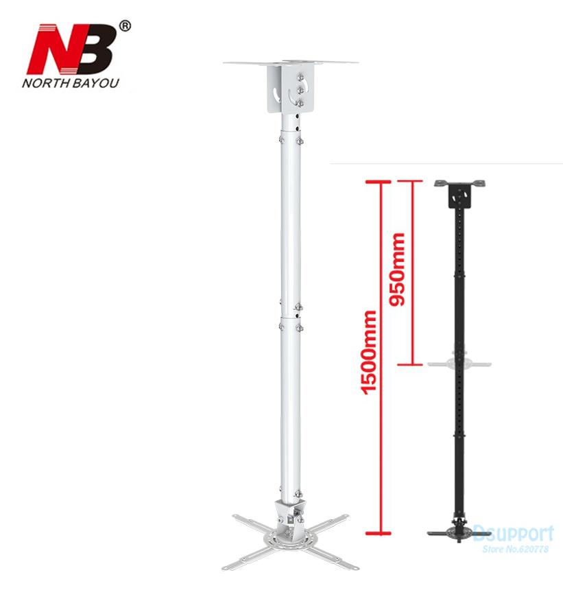 Nbt718 4 Retractable Projector Hanger Ceiling Projector Rack Full Motion  Mount 950~1500mm Black White Audio Visual Company Component Video Cables  From ...