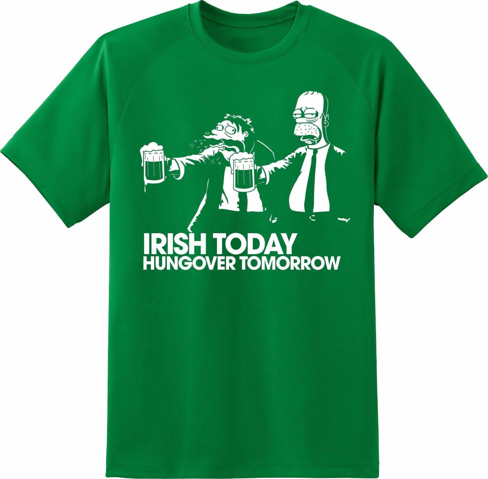 HOMER   BARNEY IRISH TODAY HUNGOVER TOMORROW ST PATRICKS DAY T SHIRT Funny  Unisex Tee Cool T Shirts Online Funny T Shirts Online From Geersfarm 1822fb14a52b